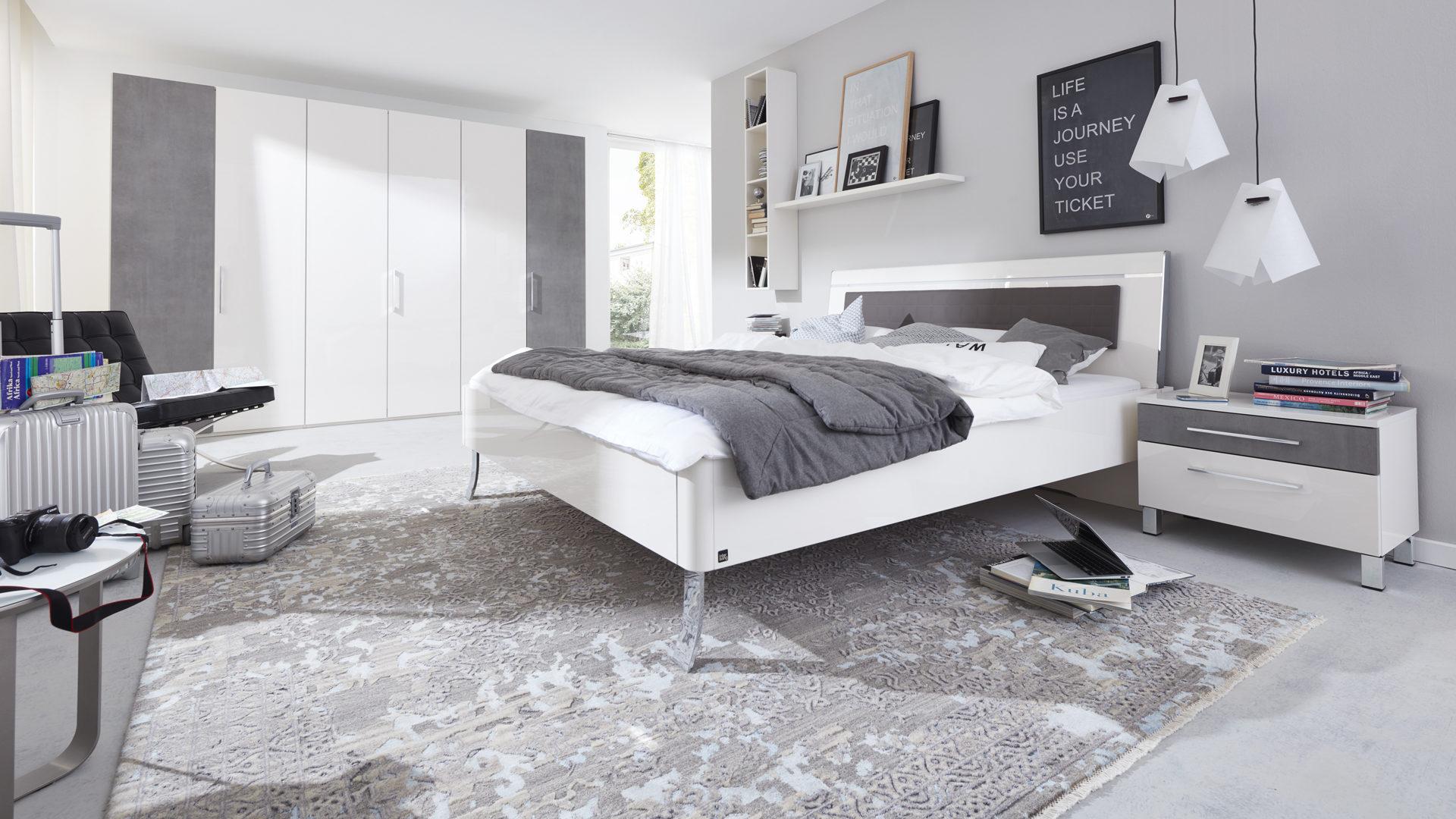 Loddenkemper Schlafzimmer Lack Bianco Weisse