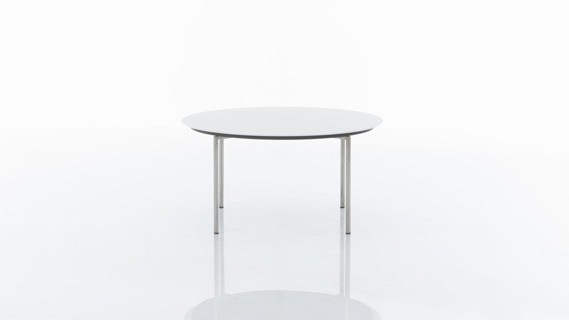 Interliving Couchtisch Serie 6201 Beistelltisch Weisse Glasplatte