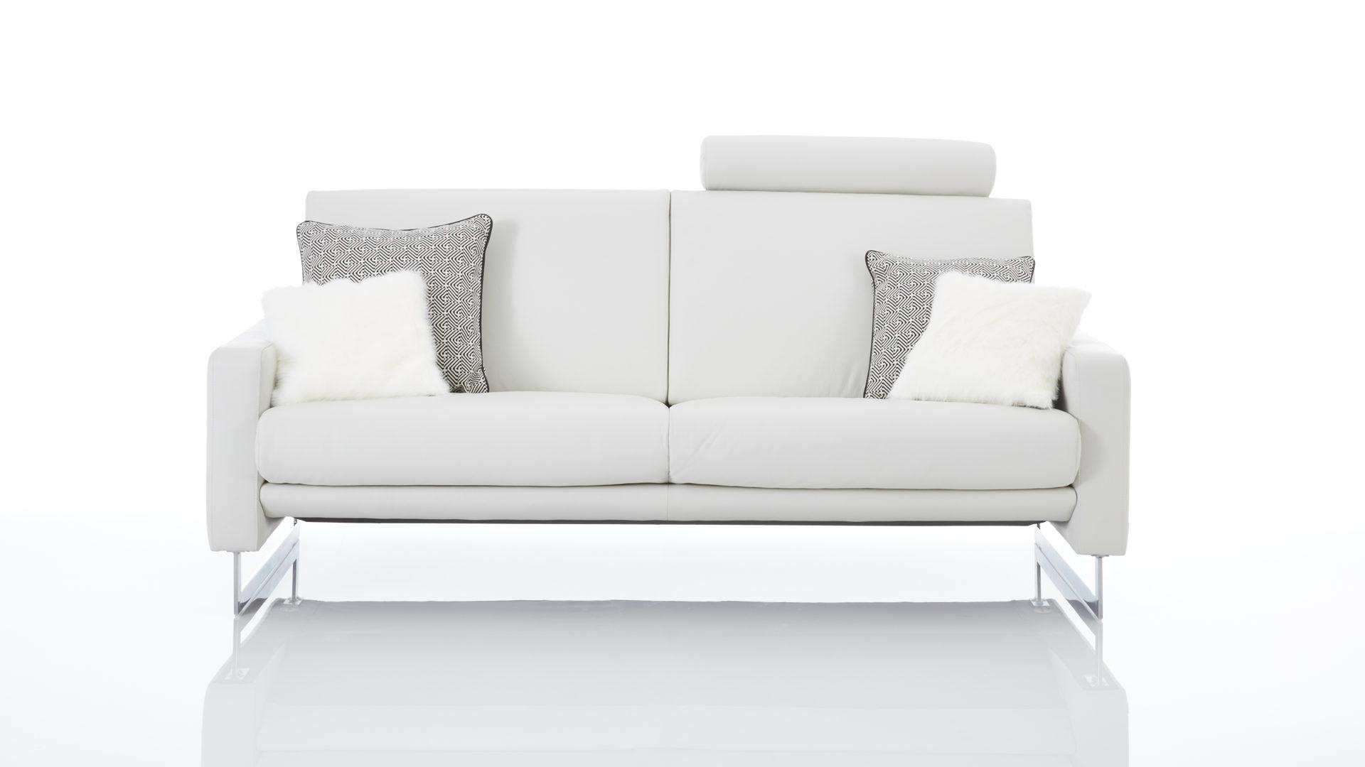Interliving Sofa Serie 4001 Dreisitzer Mit Federkern Weißes Leder