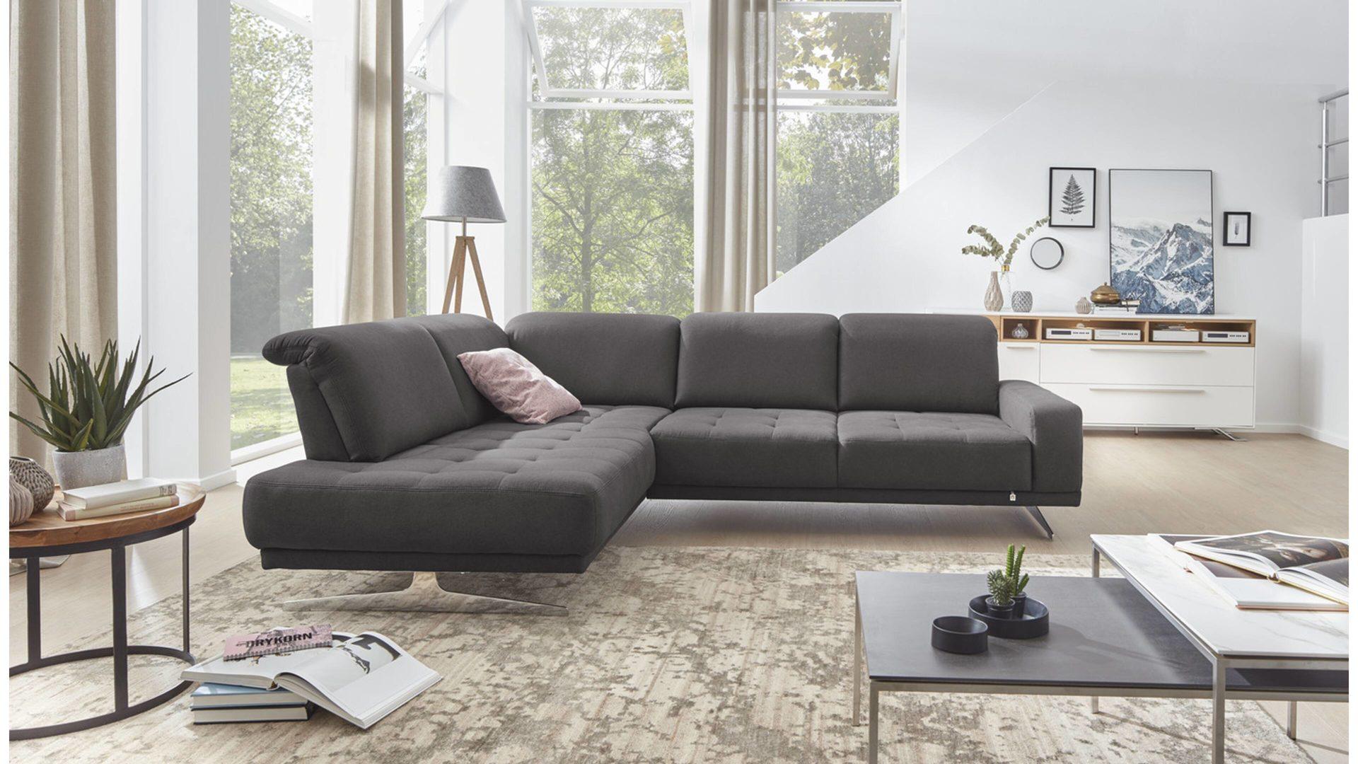 Interliving Sofa Serie 4250 Eckkombination Anthrazitfarbener