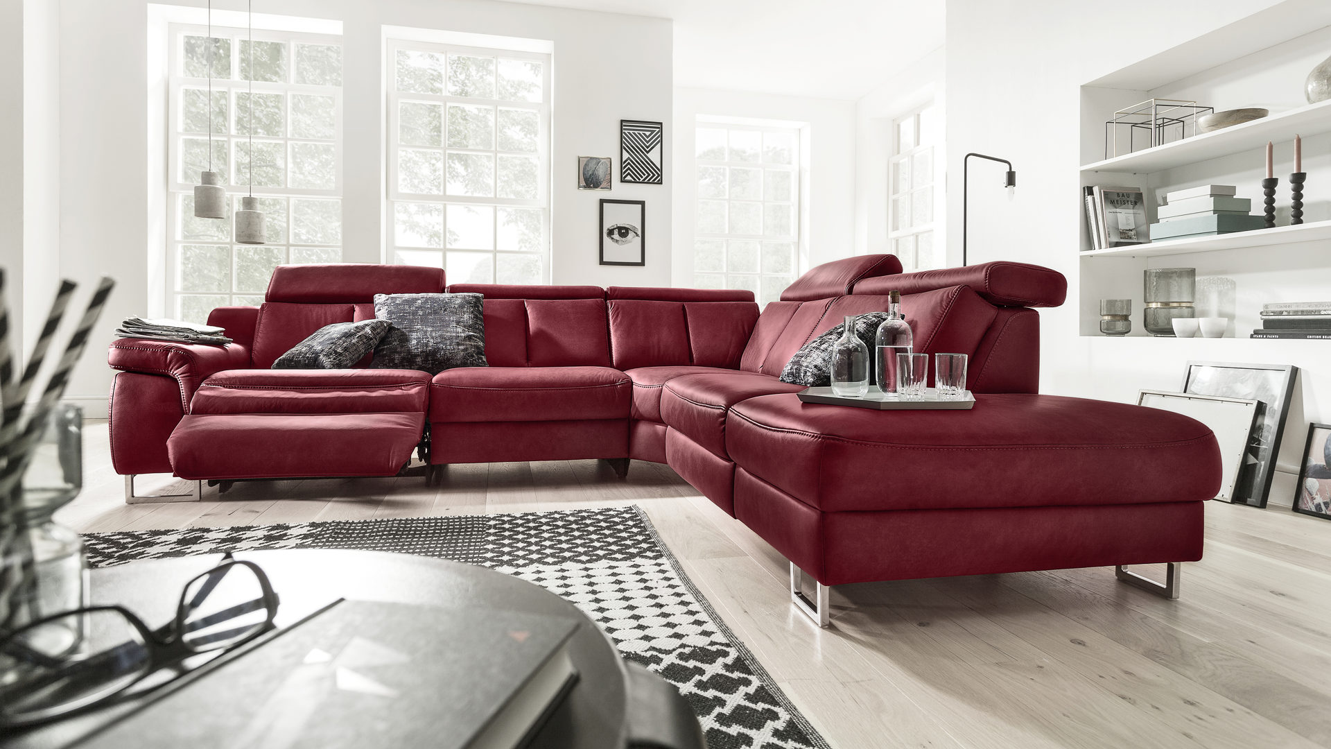 Interliving Sofa Serie 4050 Eckkombination Barolofarbenes