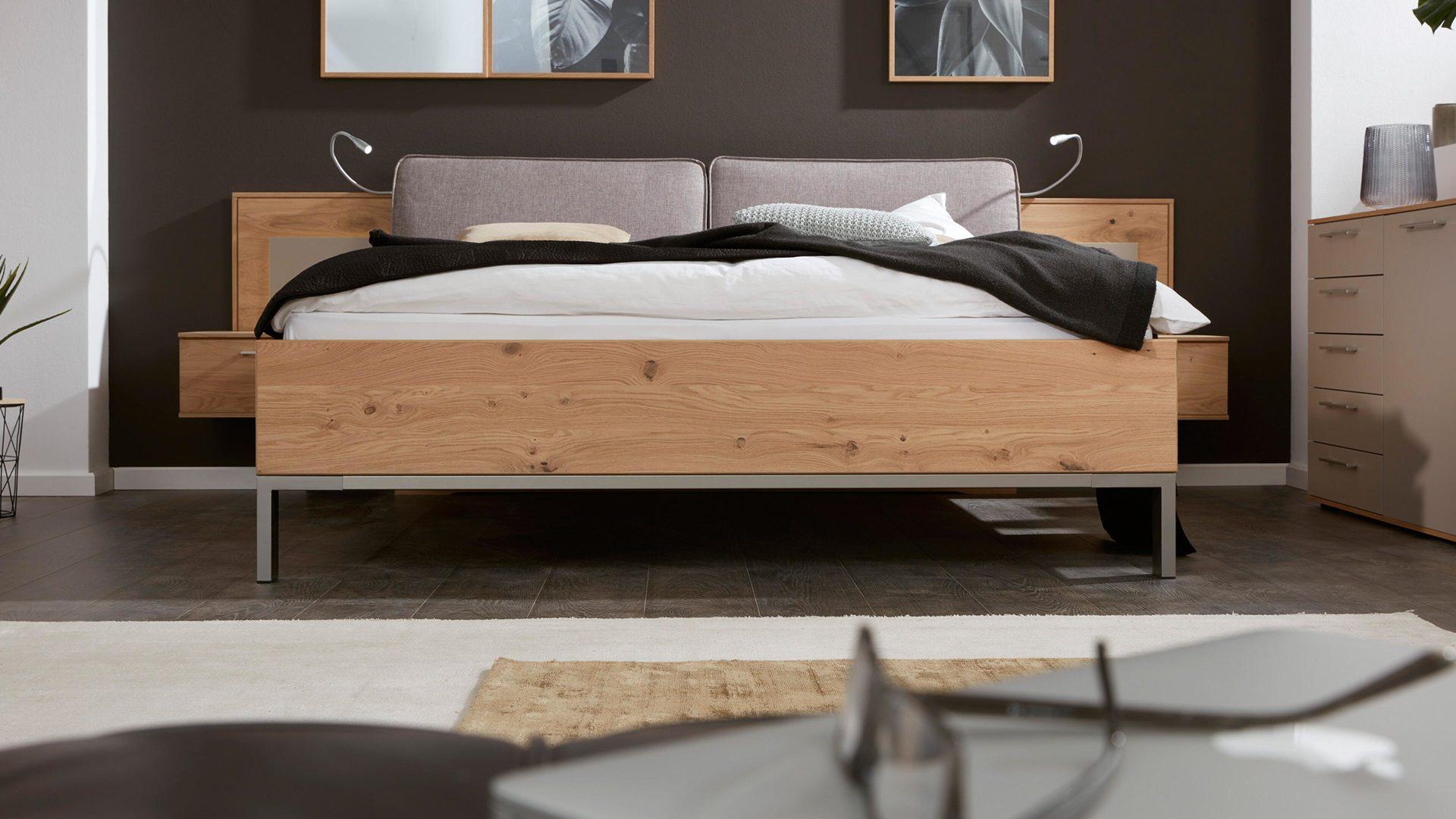 Interliving Schlafzimmer Serie 1008 – Bettkombination, taupefarbene,