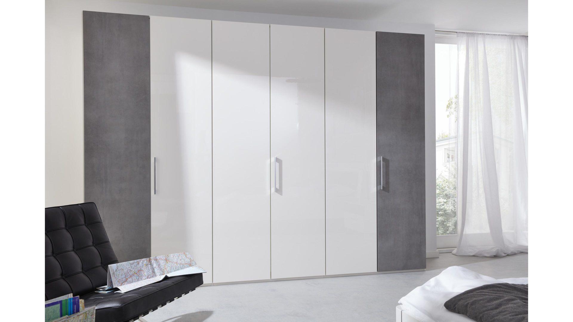 Interliving Schlafzimmer Serie 1003 – Kleiderschrank, Bianco weiße,
