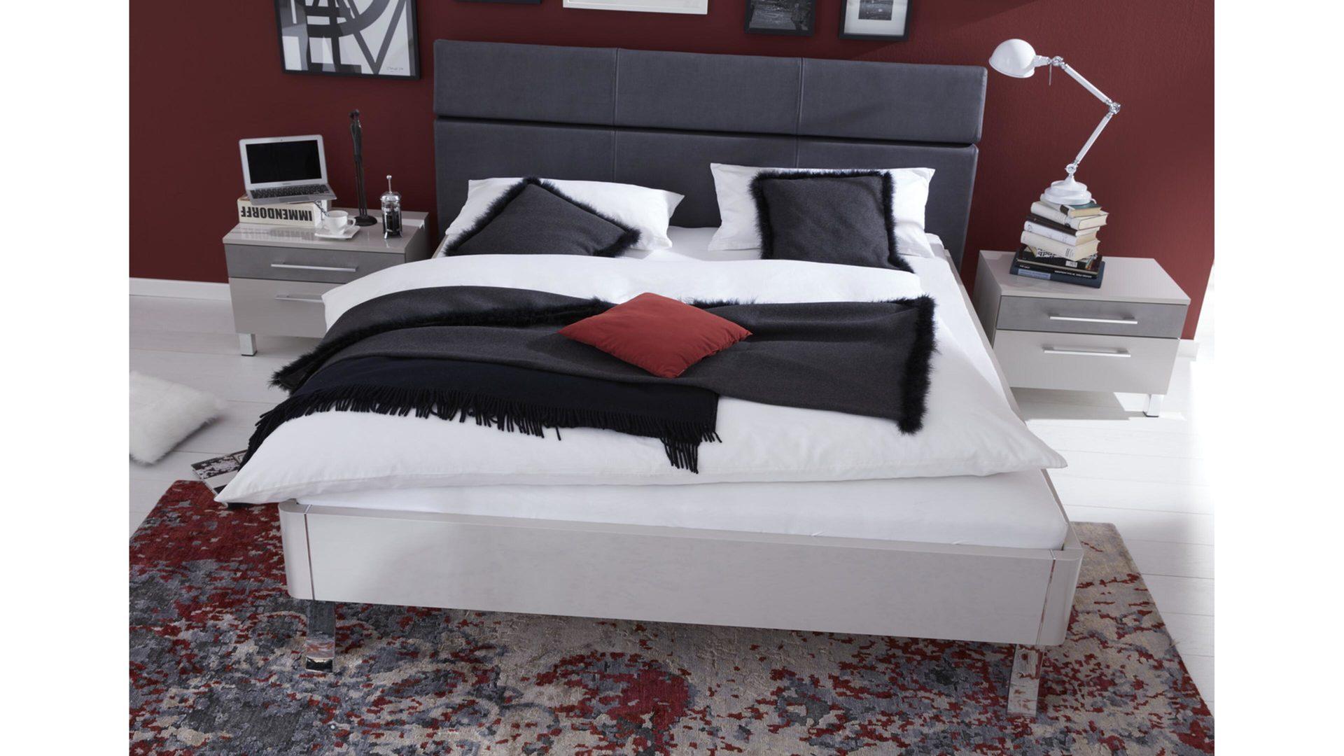 Interliving Schlafzimmer Serie 1003 – Bettgestell, kristallgraue ...