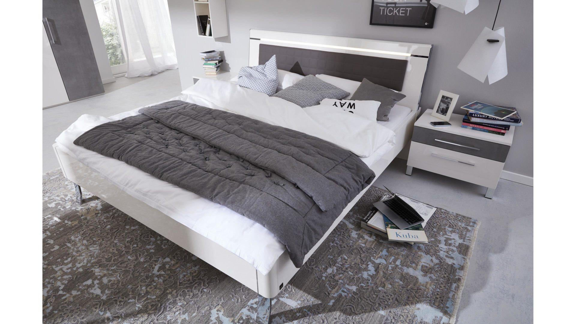Interliving Schlafzimmer Serie 1003 – Bettgestell, Bianco weiße,