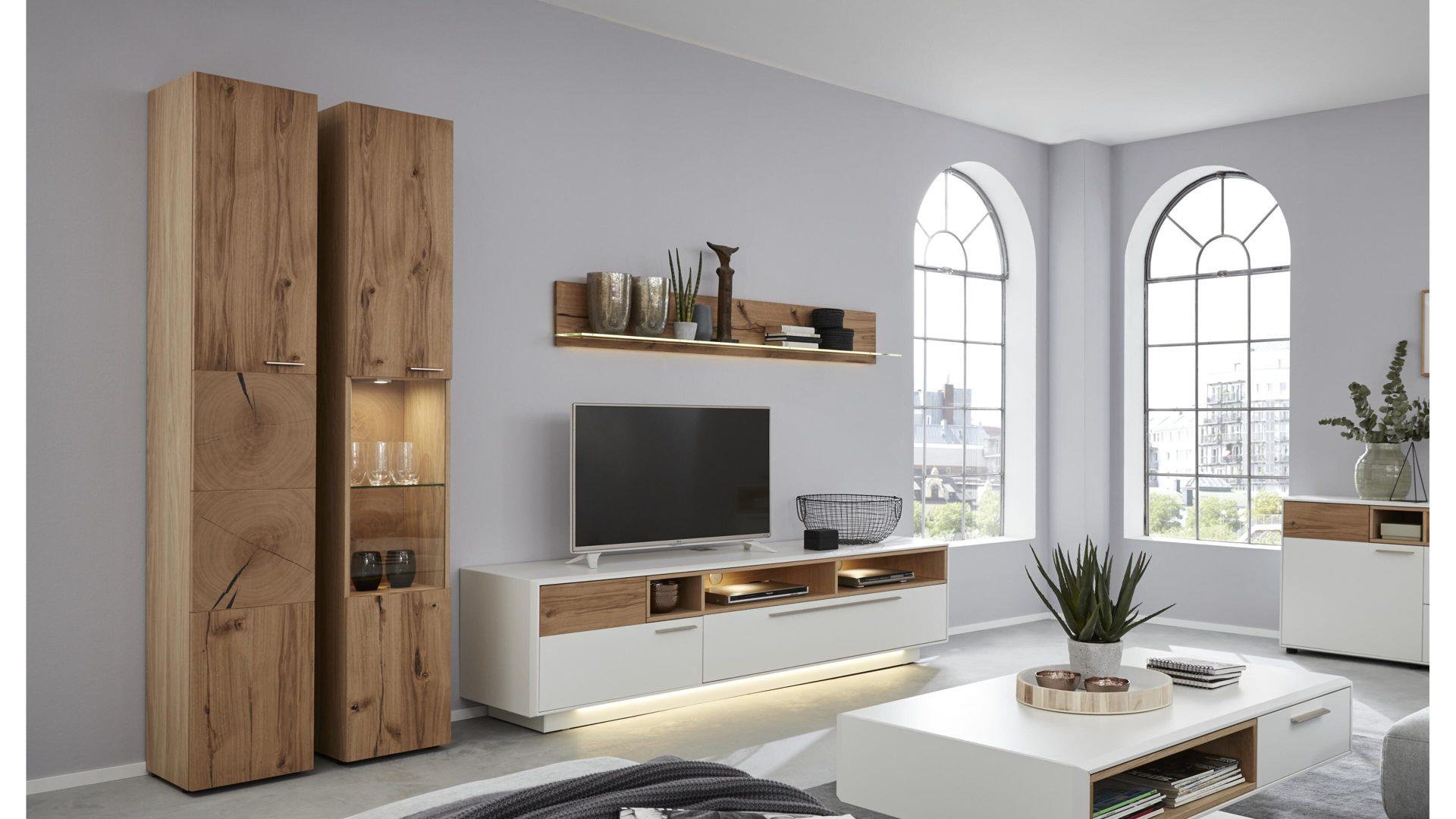 Interliving Wohnzimmer Serie 2102 Wohnkombination 510804s Helles