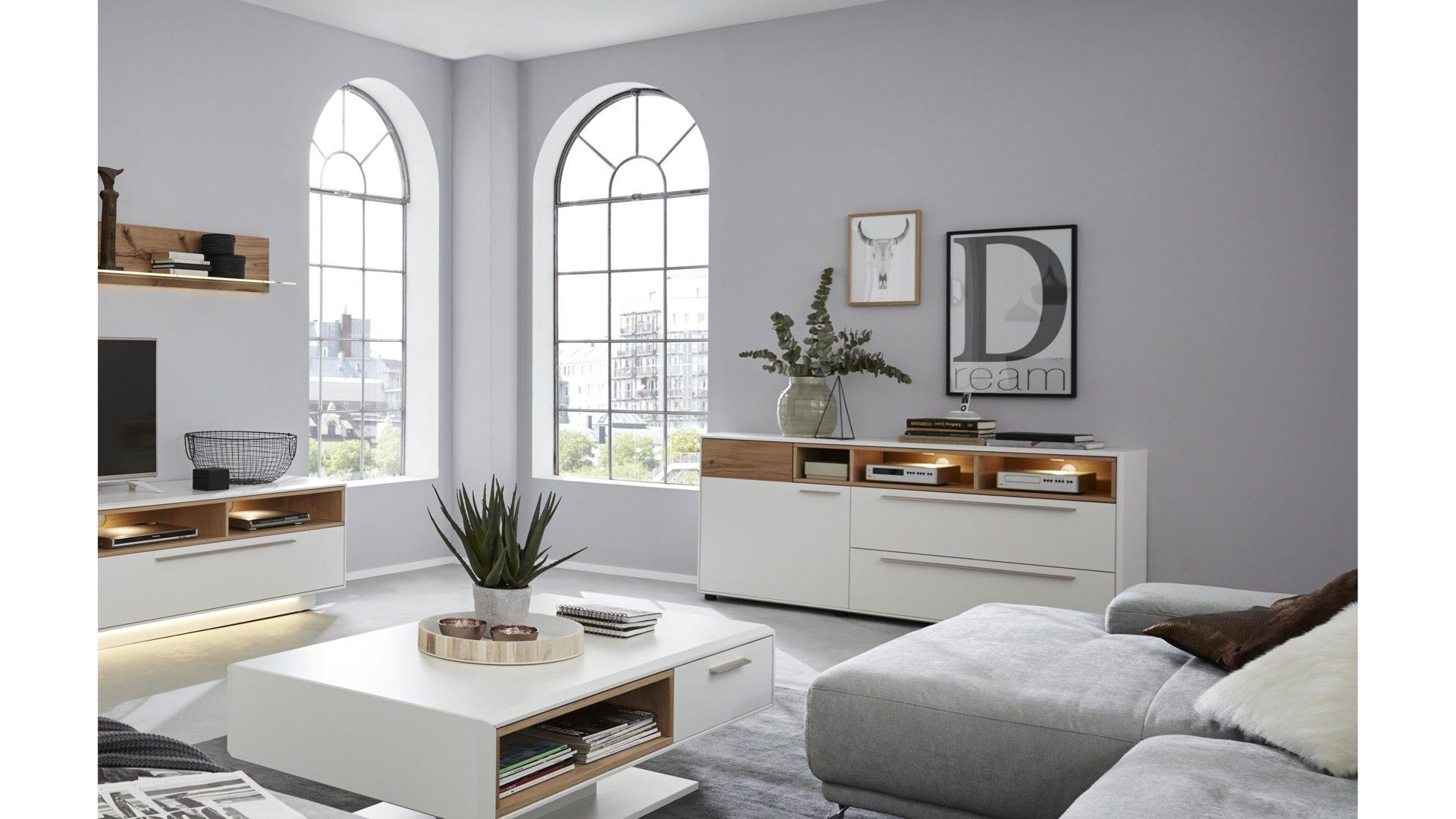 sideboard die hausmarke il aus holz in holzfarben interliving wohnzimmer serie 2102 sideboard helles
