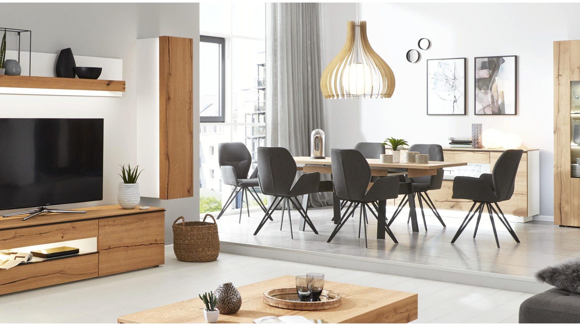 Interliving Wohnzimmer Serie 2103 – Hängeelement, mattweißer Lack &,