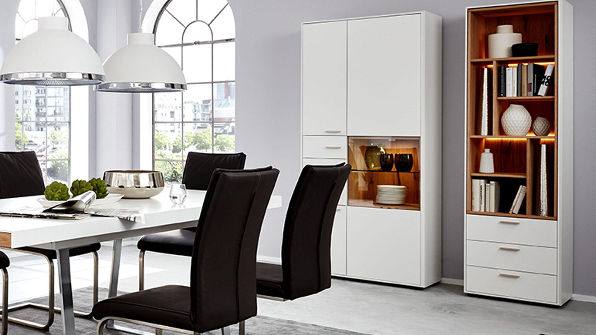 Interliving Wohnzimmer Serie 2102 - Design-Regal mit Schubladen ...