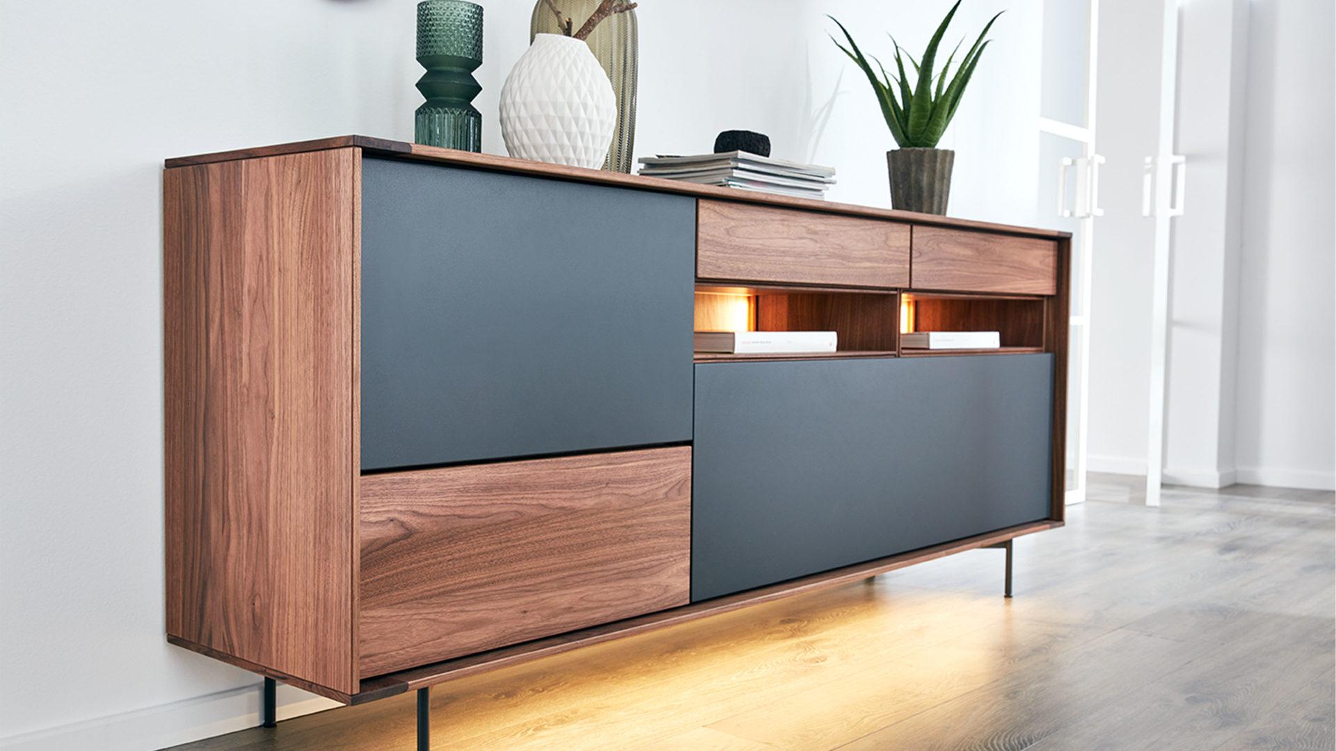 Interliving Esszimmer Serie 5602 Sideboard Colorado Nussbaum