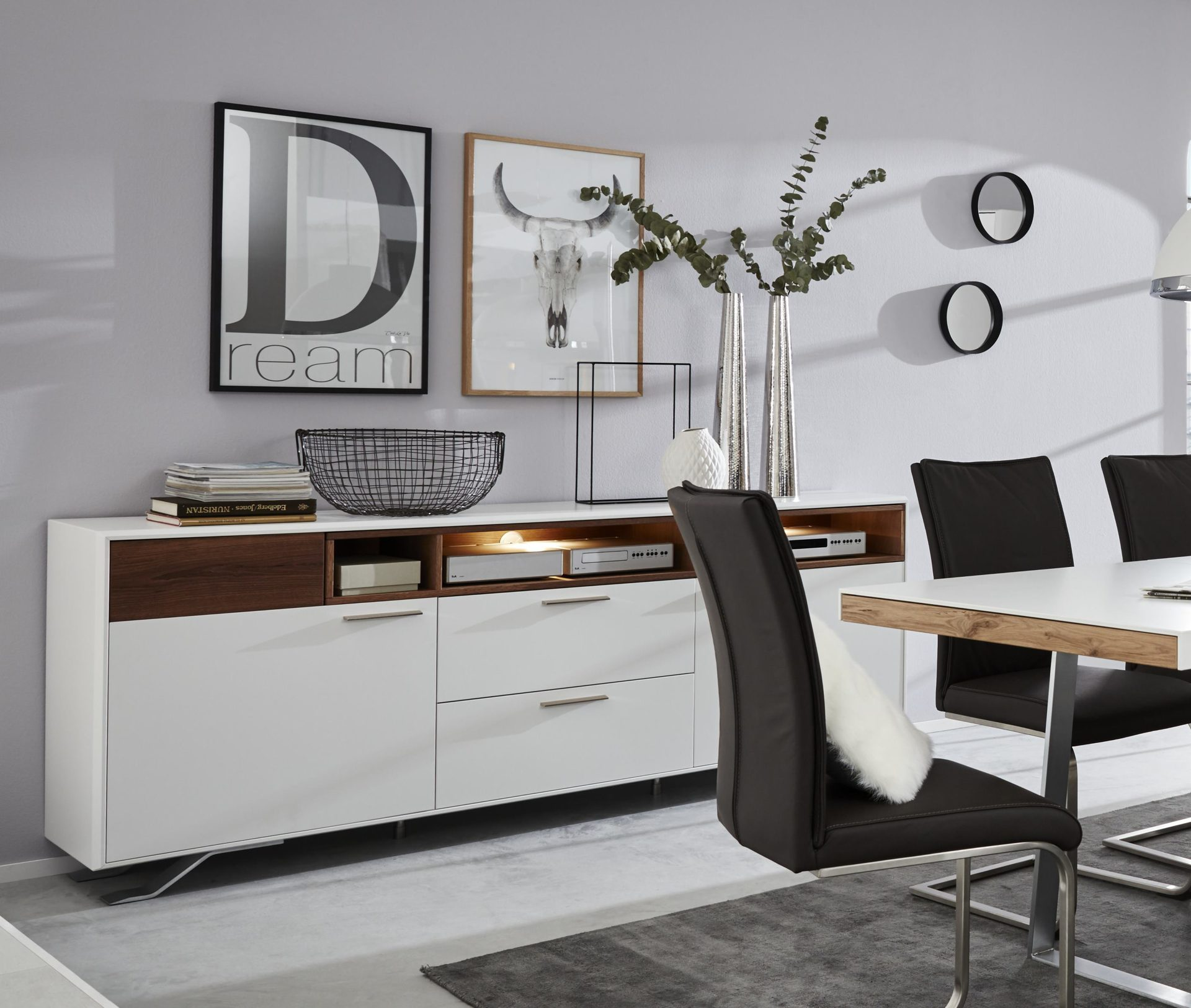 Interliving Wohnzimmer Serie 2102 – Sideboard 510366, dunkles,