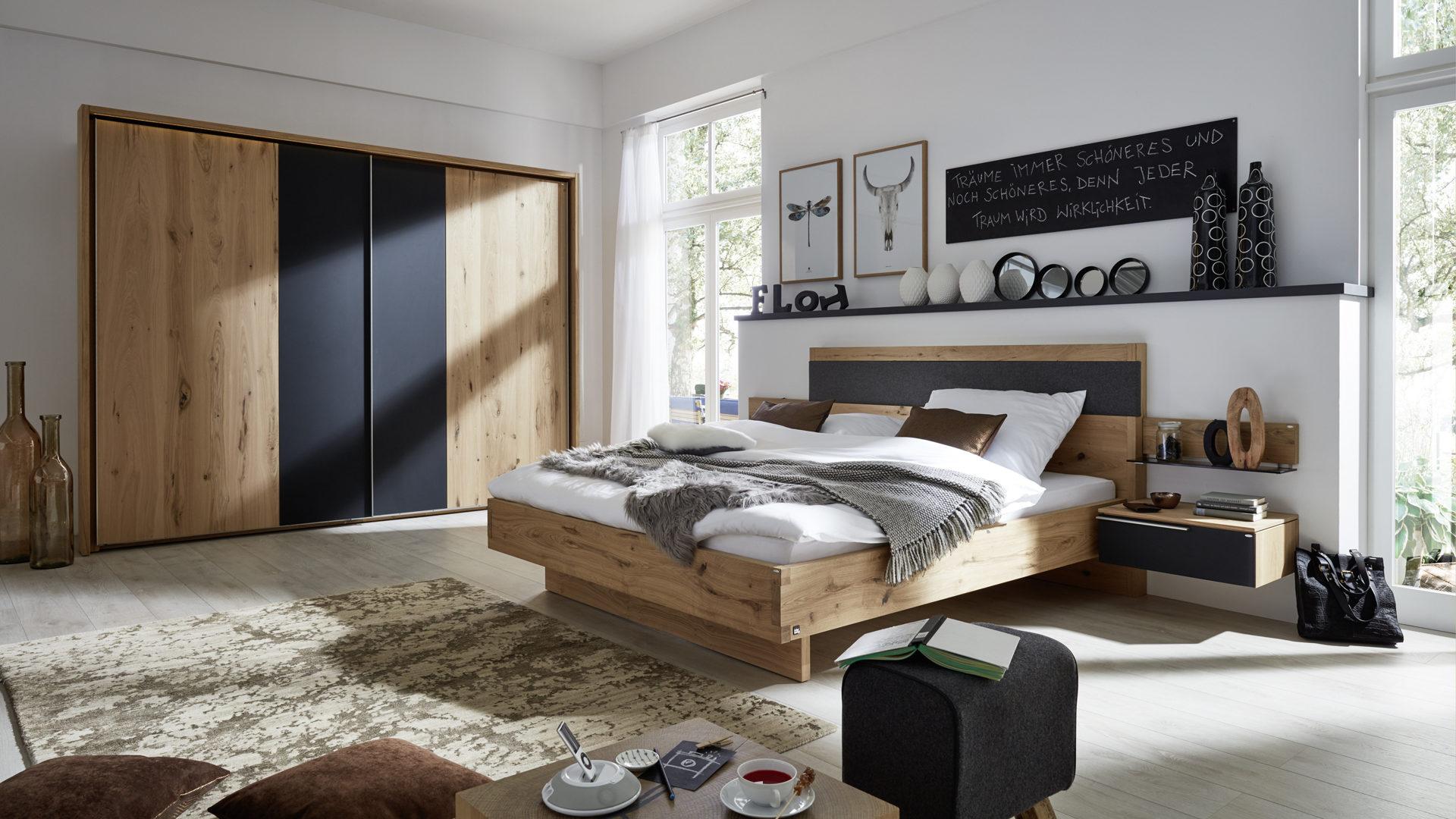 Interliving Schlafzimmer Serie 1004 – Hängekonsole, Alteiche Rustiko &,