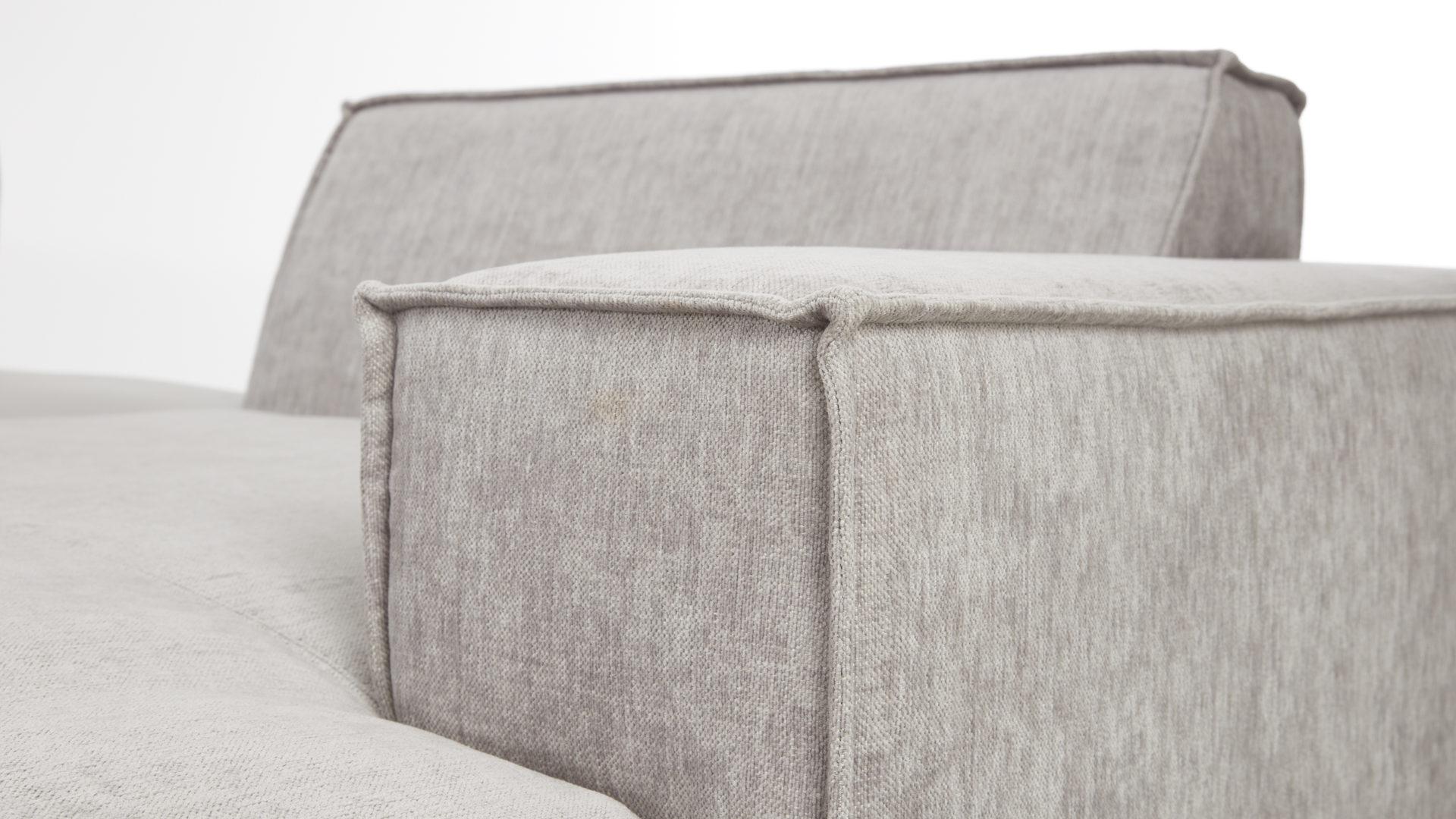 Interliving Sofa Serie 4100 Wohnlandschaft Hellgrauer Stoffbezug