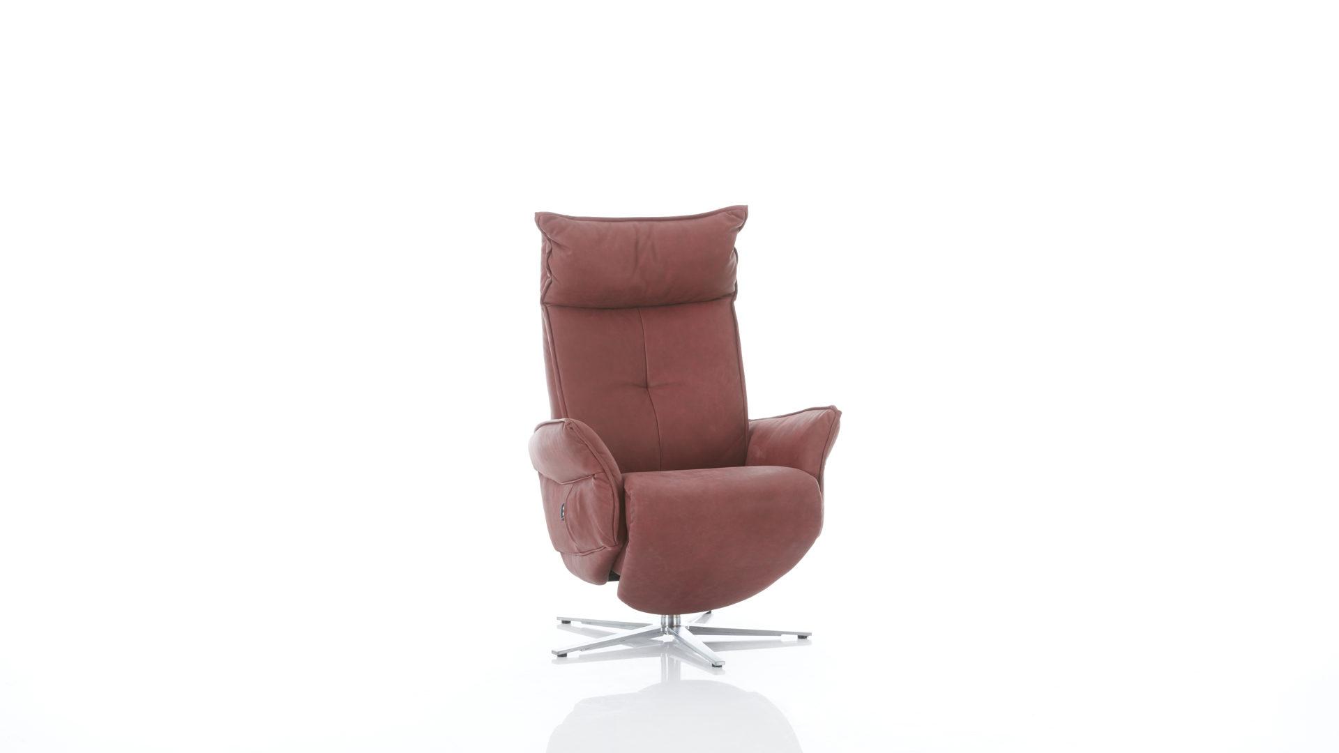 Interliving Sessel Serie 4500 Easy Swing Sessel Merlotfarbenes