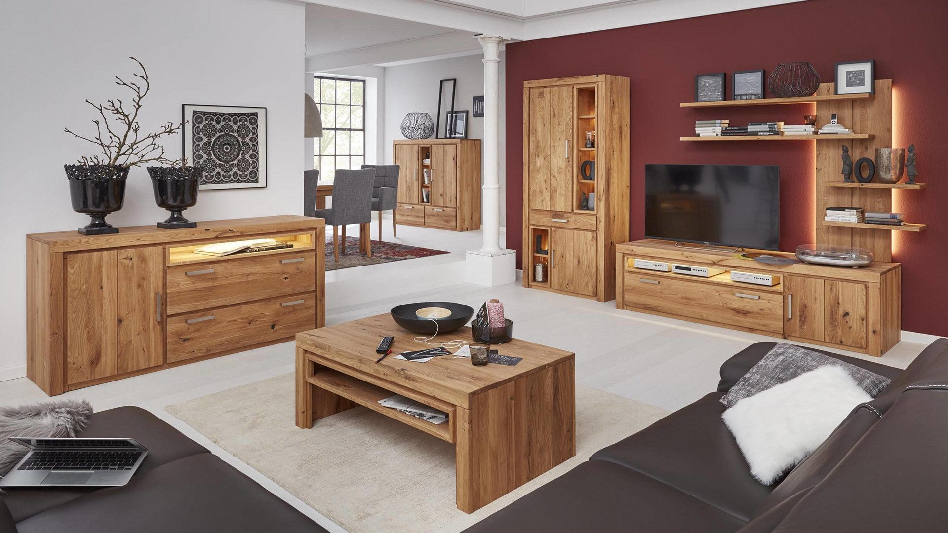 Interliving Wohnzimmer Serie 2003 – Sideboard, geölte Asteiche – eine,