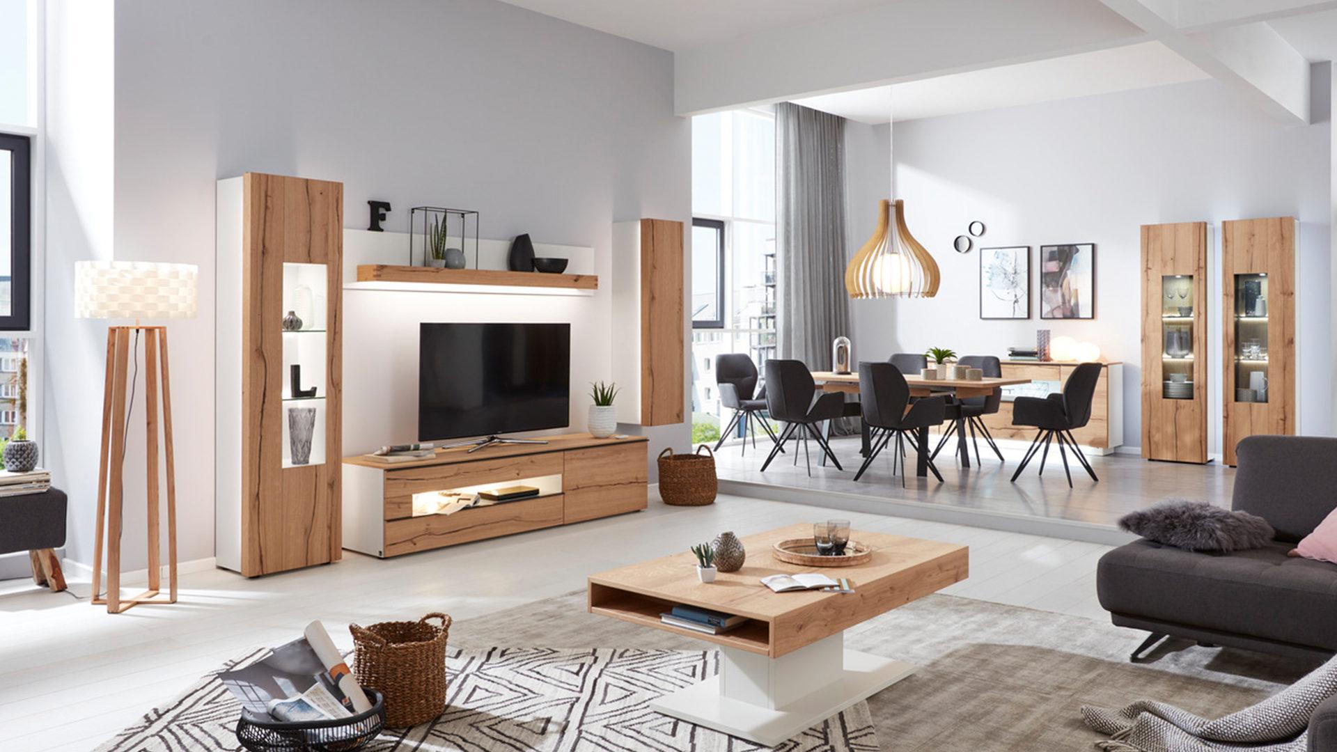 Interliving Wohnzimmer Serie 2103 – Vitrine, mattweißer Lack ...
