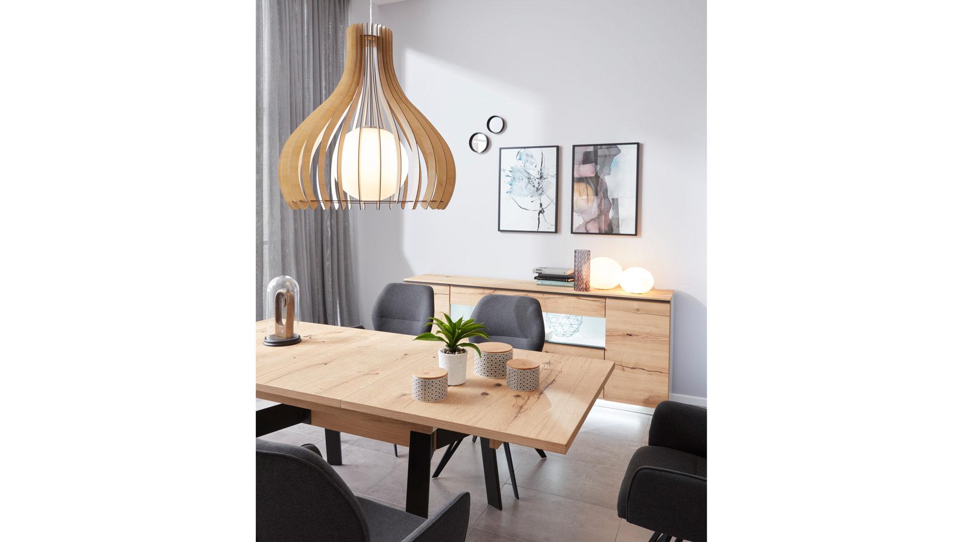 Esstisch Die Hausmarke | Il Aus Holz In Schwarz Interliving Wohnzimmer  Serie 2103 U2013 Esstisch Schieferschwarzer