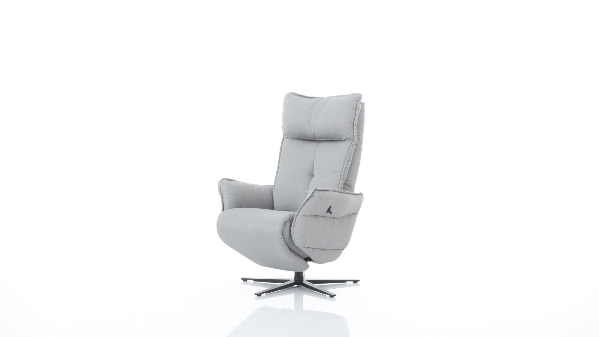 Interliving Sessel Serie 4500 Easy Swing Sessel Hellgrauer Bezug Q2