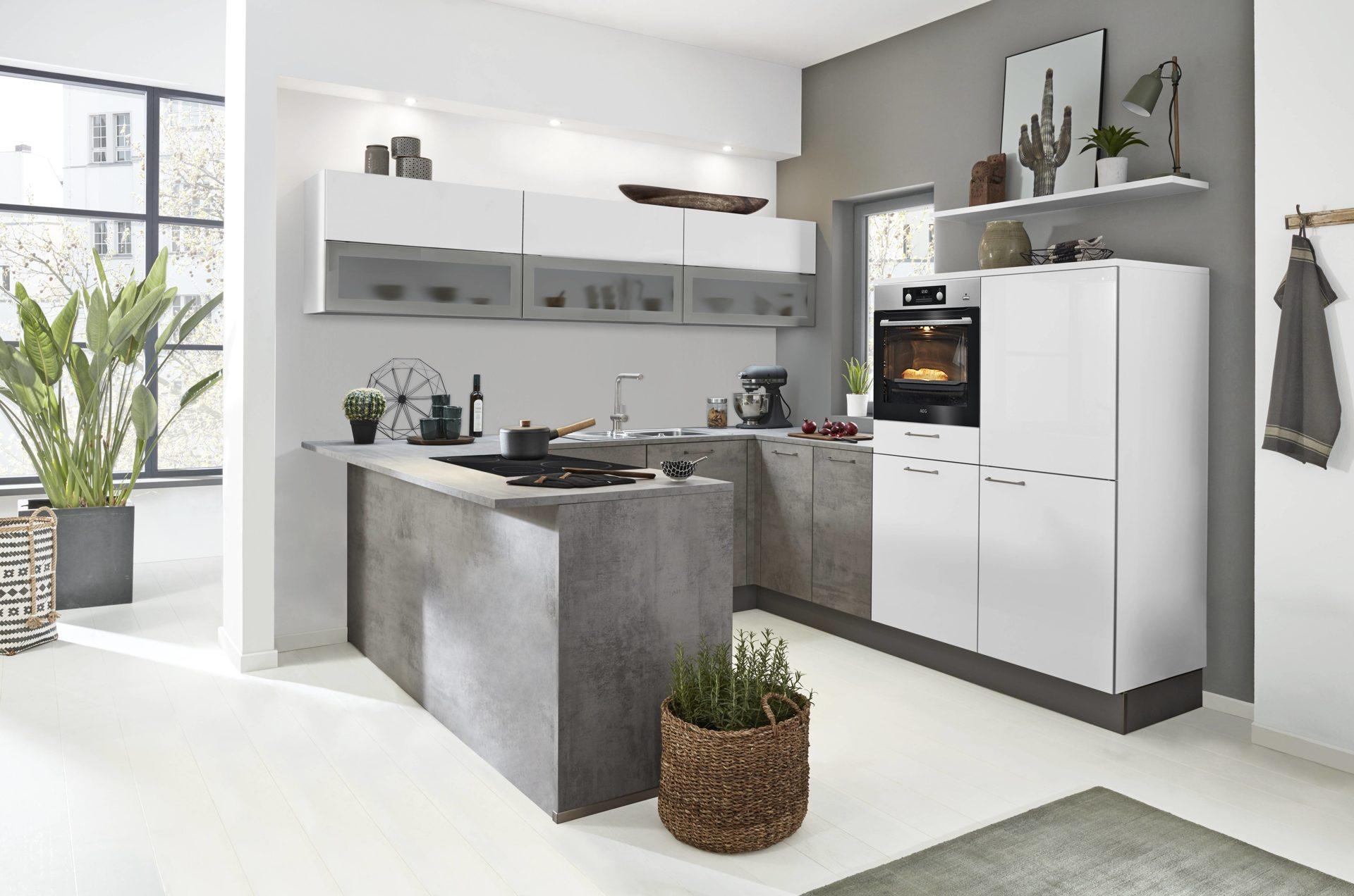 Favorit Interliving Küche Serie 3006 mit gorenje Einbaugeräten, arcticweiße &, UH88