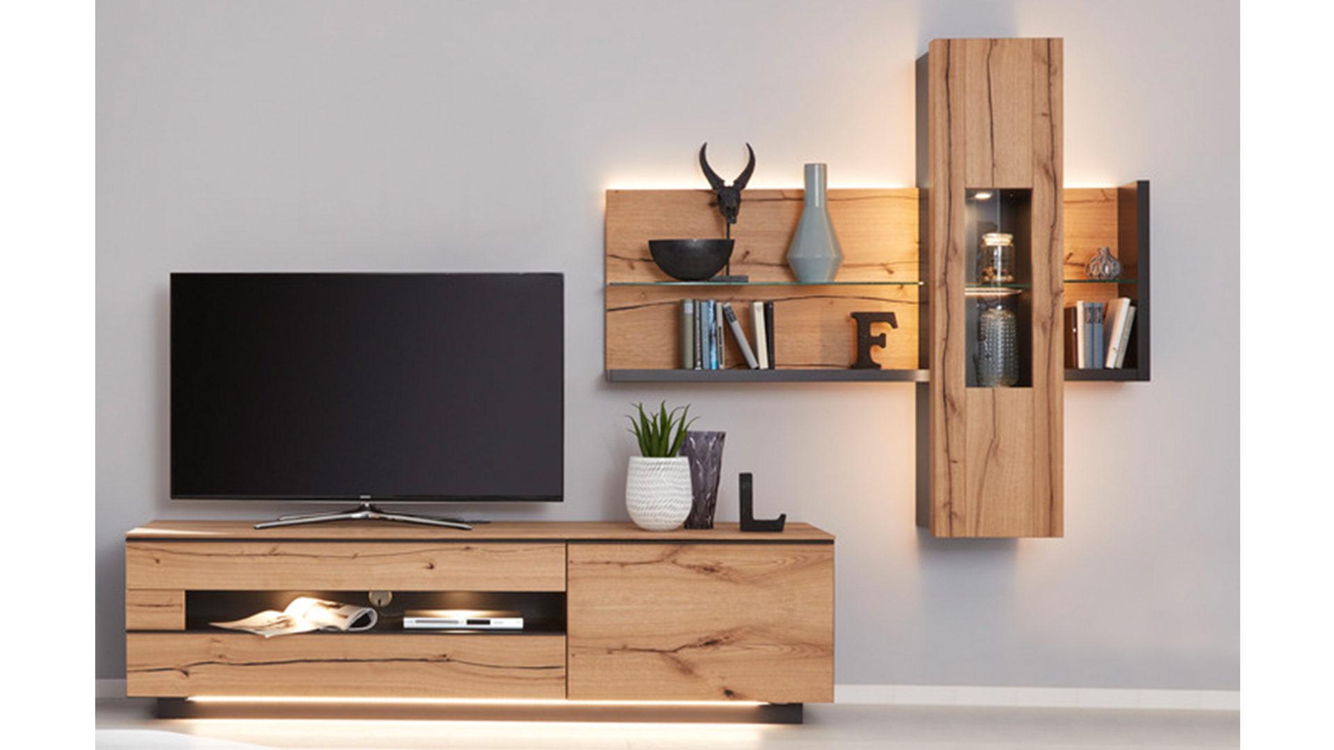 Interliving Wohnzimmer Serie 2103 Wohnwand 560001f